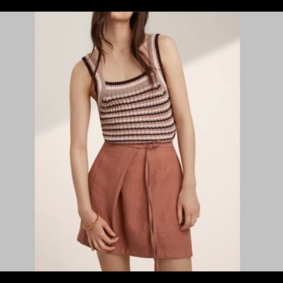 Aritzia linen skirt
